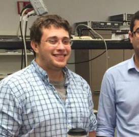 This shows University of Central Florida College of Optics and Photonics graduate students Matthew Mills and Ali Miri.