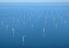 This is an aerial view of Sheringham Shoal wind farm.