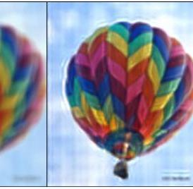 The blurred image on the left shows how a person with hyperopia, or farsightedness, would see a computer screen without corrective lenses. The image on the right shows how that same person would perceive the picture using a prototype display that compensates for visual impairments. Images were taken by a DSLR camera set to simulate hyperopic vision.