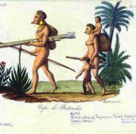 This image shows Botocudos Chief Brasil.
