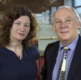 Pictured here are Dr. Turi King and Professor Kevin Schürer from the University of Leicester.