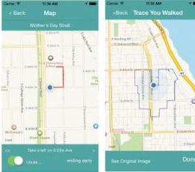 The Trace app allows you to share the walk with a friend.