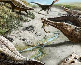 Some 212 million years ago, landscapes weren't all dinosaur-friendly: dry, hot, with wildfires.