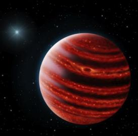 This is an image of the Jupiter-like planet discovered by the Gemini Planet Imager.