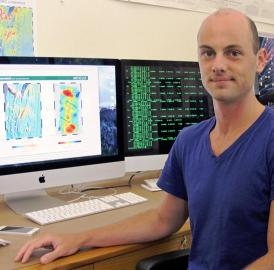 Brandon VanderBeek, a doctoral student at the University of Oregon, led a study that investigated interactions of the Earth's mantle and tectonic plates off the coast of Washington state.
