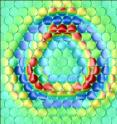In a computer simulation, Jülich scientists succeeded in showing what shape these rings take on the crystal lattice of copper.