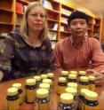 Pictured are (L to R): Inger Stallman-Jorgensen, a research dietician at the MCG Georgia Prevention Institute and Dr. Yanbin Dong, a molecular geneticist and cardiologist at the GPI and co-director the MCG Diabetes & Obesity Discovery Institute.
