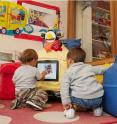 A social robot can operate autonomously with children in a preschool setting. One long-term goal is to engineer systems that test whether young children can learn a foreign language through interactions with a talking robot.