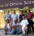 Poul Jessen and his team from the University of Arizona College of Optical Sciences are reporting on their research in the Oct. 8, 2009 issue of <i>Nature</i>. Pictured are: (front row, l to r) Worawarong Rakreungdet, Souma Chaudhury -- the lead author on the <i>Nature</i> article, Brian Anderson and (back, l to r) Aaron Smith, Enrique Montano, Jae Hoon Lee, and Jessen.