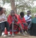 Maasai people give answers about their eating habits.