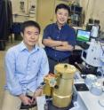 Yongmin Liu (left) Xiang Zhang and Thomas Zentgraf used sophisticated compuer modeling to develop a &quot;transformational plasmon optics&quot; technique that may open the door to practical integrated, compact optical data-processing chips.