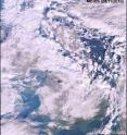 This is an image of snow-bound UK from space by MERIS on Nov. 29.