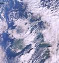 This is an image of snow-bound UK from space by MERIS on Dec. 1.