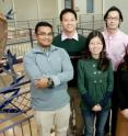 Illinois researchers developed a soft growth medium for stem cells that allows them to culture homogenious pluripotent colonies, without expensive growth factor chemicals. The team: front row from left, graduate students Farhan Chowdhury and Yanzhen Li and visiting scholar Tamaki Yokohama-Tamaki; back row from left, graduate student Yeh Chuin Poh; Tetsuya Tanaka, professor of animal sciences; and Ning Wang, professor of mechanical science and engineering.