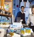 Associate Professor of Molecular Biology Yibin Kang (right) with research collaborator Nilay Sethi, a dual degree student who recently finished his Ph.D. in molecular biology at Princeton and is now completing his medical degree at the University of Medicine and Dentistry of New Jersey-Robert Wood Johnson Medical School.