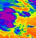A NASA AIRS instrument infrared image captured on Feb. 9 at 17:47 UTC (12:47 p.m. EST) showed some strong convection and strong thunderstorms (purple) with very cold cloud-top temperatures, around the center of System 96S.