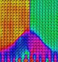 At the atomic scale, University of Michigan researchers have for the first time mapped the polarization of a cutting-edge material for memory chips.
