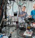 The research groups of (l-r) Dr. Robert Huber, Ludwig-Maximilians-Universitaet, Munich, and Dr. Christian Jirauschek, Technische Universitaet Muenchen, have pointed the way toward compact, robust sources for applications requiring ultrashort laser pulses.