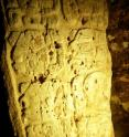 Stela 44 glyphs describe the conjuring of the three city gods by the Maya King Chak Took Ich'aak.