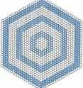 """Structural models of hexagonal graphene """"onion rings"""" show a layer of graphene, a single-atom-thick sheet of carbon, atop a set of concentric nanoribbons. The ribbons grow by chemical vapor deposition in a high-pressure, hydrogen-rich atmosphere."""