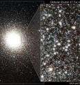 These images showcase the ancient globular cluster 47 Tucana, a dense swarm of up to a million stars.