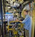 Greg Hura at the ALS SIBYLS beamline, which features two interchangeable end stations, one for macromolecular crystallography and one for small angle X-ray scattering.