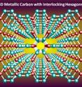 This shows 3D Metallic carbon with interlocking hexagons.