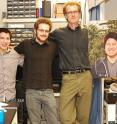 The UC Davis research team includes (from left to right) Vladimir Yarov-Yarovoy, Daniel Austin, Sebastian Fletcher-Taylor, Jon Sack and Kenneth S. Eum, who passed away earlier this year. The team has dedicated the work to his memory. 'Ken was a talented postdoctoral student, a driven and caring soul who brought joy to the lives of those who knew him,' they said.