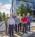 This image depicts from left Miquel Salmeron, Jinghua Guo, David Prendergast, Liwen Wan, Chenghao Wu, Tod Pascal and Juan-Jesus Velasco-Velez.