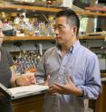 Lingchong You, the Paul Ruffin Scarborough Associate Professor of Engineering at Duke University, and graduate student Will (Yangxiaolu) Cao.