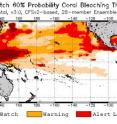 NOAA Coral Reef Watch satellite data shows continued bleaching through September 2016.