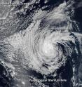 On July 22 at 0000 UTC (July 21 at 8 p.m. EDT) the VIIRS instrument aboard NASA-NOAA-DOD's Suomi NPP satellite captured this visible light image of Tropical Storm Estelle in the eastern Pacific Ocean.