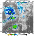 NASA's Aqua satellite revealed patchy and limited convection (yellow) and thunderstorm development in weakening Tropical Depression Namtheun early on Sept. 5.