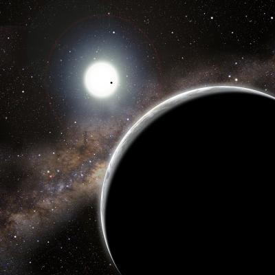 """The invisible world Kepler-19c, seen in the foreground of this artist's conception, was discovered solely through its gravitational influence on the companion world Kepler-19b - the dot crossing the star's face. Kepler-19b is slightly more than twice the diameter of <stro />Earth</strong>, and is probably a mini-Neptune. Nothing is known about Kepler-19c, other than that it exists."""" class=""""image image_medium"""" /></a></p> <p>Usually, running five minutes late is a bad thing since you might lose your dinner reservation or miss out on tickets to the latest show. But when a planet runs five minutes late, astronomers get excited because it suggests that another world is nearby. <strong>NASA</strong>'s Kepler spacecraft has spotted a planet that alternately runs late and early in its orbit because a second, """"invisible"""" world is tugging on it. This is the first definite detection of a previously unknown planet using this method. No other technique could have found the unseen companion.</p> <p>""""This invisible planet makes itself known by its influence on the planet we can see,"""" said astronomer Sarah Ballard of the Harvard-Smithsonian Center for Astrophysics (CfA). Ballard is lead author on the study, which has been accepted for publication in <em>The Astrophysical Journal</em>.</p> <p>""""It's like having someone play a prank on you by ringing your doorbell and running away. You know someone was there, even if you don't see them when you get outside,"""" she added.</p> <p>Both the seen and unseen worlds orbit the <strong>Sun</strong>-like star Kepler-19, which is located 650 light-years from <strong>Earth</strong> in the constellation Lyra. The 12th-magnitude star is well placed for viewing by backyard telescopes on September evenings.</p> <p>Kepler locates planets by looking for a star that dims slightly as a planet transits the star, passing across the star's face from our point of view. Transits give one crucial piece of information — the planet's <strong>physical</strong> size"""