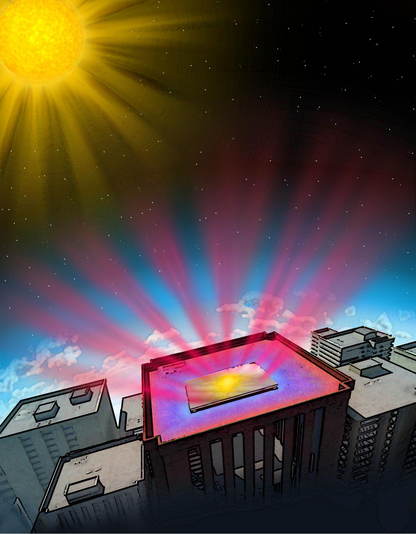 Stanford engineers have invented a transparent material that improves the efficiency of solar cells by radiating thermal energy into space