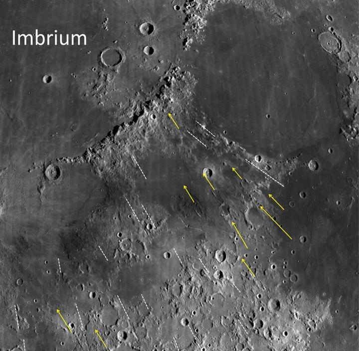 How did the 'man in the moon' get there?