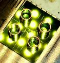 This is aphotograph of 1cm x 1cm optofluidic chip for direct detection of viral nucleic acids.