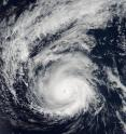 At 7:25 p.m. EDT (23:25 UTC) on Aug. 29, NASA-NOAA's Suomi NPP satellite captured an image of Hurricane Madeline nearing Hawaii.