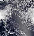 On Aug. 31 at 6:50 p.m. EDT (22:50 UTC) the VIIRS instrument aboard NASA-NOAA's Suomi NPP satellite saw a shapeless Tropical Storm Madeline approaching Hawaii.