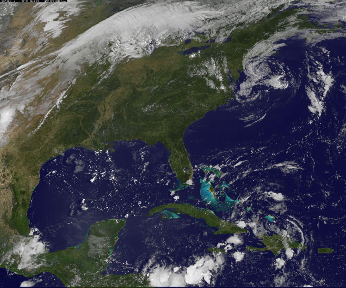 NASA sees post-Tropical Storm Hermine south of Long Island